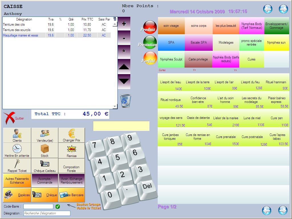 Programme de gestion de caisse logiciel de caisse for Photo ecran logiciel